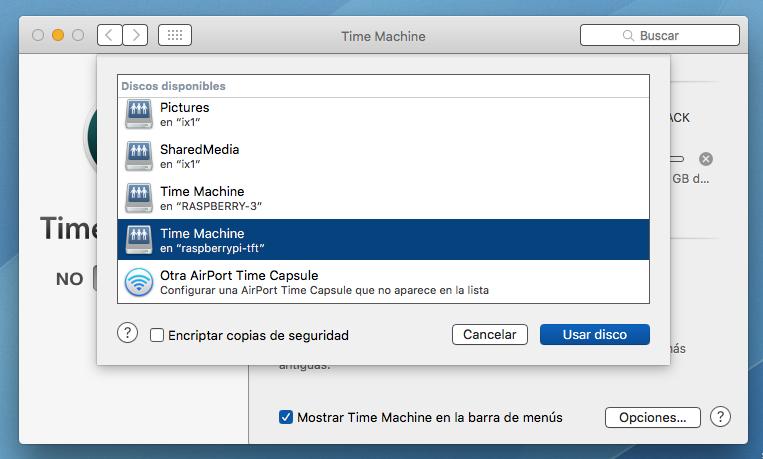 Time Capsule en Time Machine