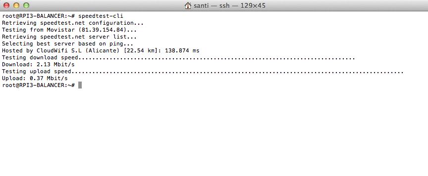 Speedtest para Raspberry Pi
